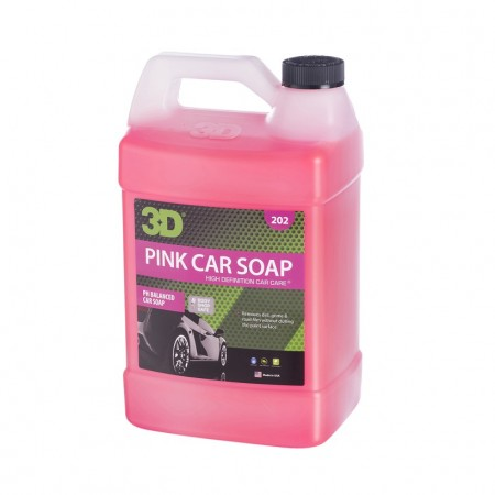 3D Pink Car Soap, 1 gallon