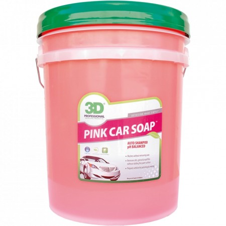 3D Pink Car Soap, 5 gallon